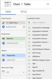 Guide Google Data Studios Ui