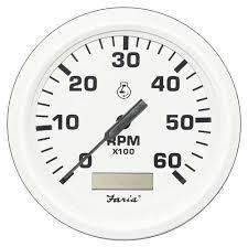 gauges faria tachometer 7000 rpm white faria tachometer 7000 rpm white