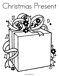 Small Picture Christmas Present Coloring Page Twisty Noodle