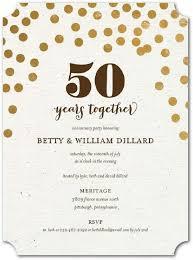 50th Anniversary Party Invitations 50th Wedding Anniversary Invitations Gold Glitter In 2019