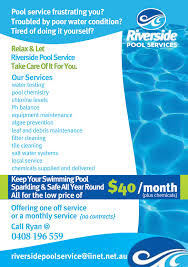 Pool Service Flyer Serious Modern Flyer Design For Ryan Murray Jb
