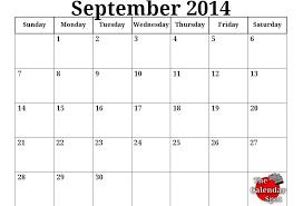 10 Best Images Of Sept 2014 Calendar Printable September 2014