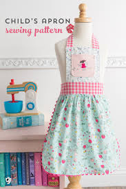 Apron Dress Pattern Delectable How To Sew Children's Aprons A Free Child's Apron Pattern