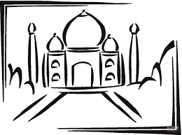 Small Picture Taj Mahal In India coloring page Free Printable Coloring Pages