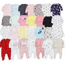 Bộ đồ liền thân cho bé trai bé gái sơ sinh body ngủ cho bé sơ sinh hàng nhà  máy thanh lý - Bộ đồ liền thân