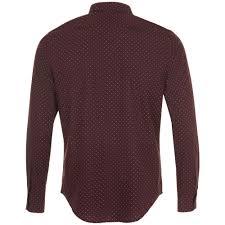 <b>Рубашка мужская BECKER MEN</b>, бордовая с белым с логотипом ...