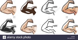 Fitness Health Arm Muscles Strong Hand Icon Or Symbol Gym Sports
