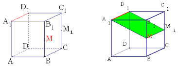 Урок геометрии по теме Решение задач на построение сечений  определяемое пересекающимися прямыми АС1 и А1С