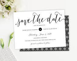 Save The Date No Photo Elegant Modern Script Save The Date No Photo Save The Date Calligraphy
