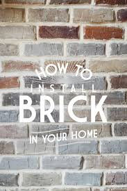 how to install a faux brick wall