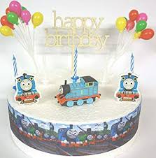 Osk Thomas The Tank Engine Birthday Cake Decoration Set Amazonco