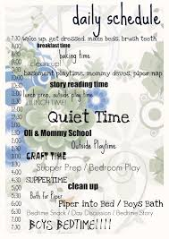 Daily Routine Super Nanny Style Mom Schedule Family