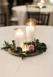 candle wedding centerpiece purple and greenery centerpiece simple wedding centerpiece