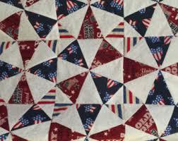 Patriotic quilt kit   Etsy & Beautiful 16 America Patriotic Kaleidoscope Quilt Pre-cut Block Kits, L@@K Adamdwight.com