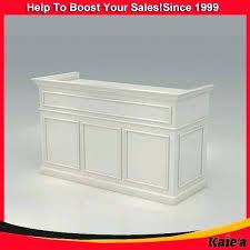 salon reception desk modern for plan white hair