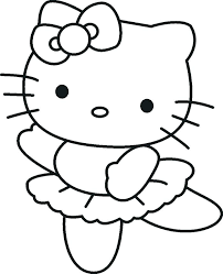 Hello kitty in the bathtub hello kitty is taking a bath in her bathtub and making soap bubbles. Kitty Dancing Coloring Page Free Printable Coloring Pages For Kids
