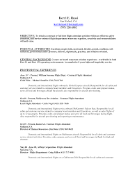 Resume Samples For Flight Attendant Position Free Resume Example