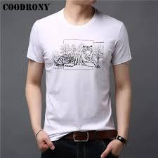 ALL 1,817.17 41% Off | <b>COODRONY Cotton T Shirt</b> Men Short ...