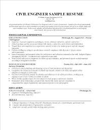 Free Civil Engineering Student Resume Template Templates At
