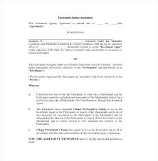 Investor Agreement Template Uk Small Business Investment Contract