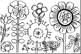 Simple Coloring Sheets Simple Coloring Pages Flowers Adult Coloring