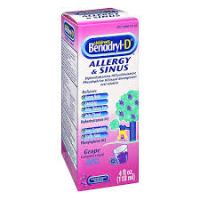 children s benadryl d allergy sinus