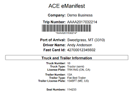 Delivery Manifest Template Borderconnect Ace Manifest Requirements For The United States Cbp