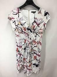 Haoduoyi Size Chart New Womens 1x Xl Plus Size 18 20 Dress White Flowers Casual