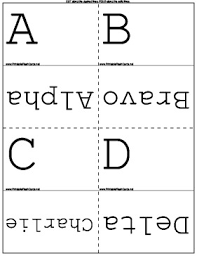 It is used to spell out words when speaking to someone not able to see the speaker, or when the audio channel is not clear. Phonetic Alphabet Flash Cards