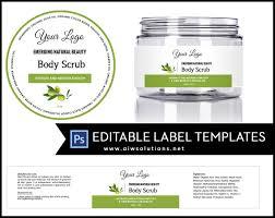 Cosmetic Label Design Template Label Template Id16 Cosmetic Labels Label Templates