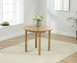 wickford solid oak 90cm round dining set extending with 2 worksop black chairs
