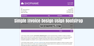 Download Simple Invoice Template Html Gif