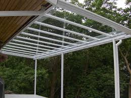 image of how to build a porch roof with glass