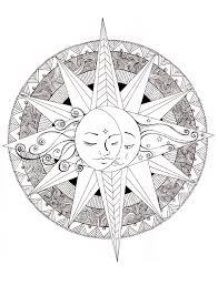 Small Picture Sun Mandala Coloring Pages Coloring Coloring Pages