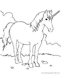 Unicorn Color Page Coloring Pages For Kids Fantasy Medieval