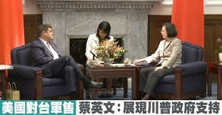 Image result for 美國支持蔡英文