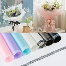 Paper Flower Bouquet In Vase Us 7 99 10 Pcs Lace Pattern Mist Paper Flower Bouquet Wrapping Opp Waterproof Material Florist Supply Packing 60 60 Cm Wedding Party In Party Diy
