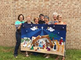Nativity paper-pieced quilt – part nine – it's done! | Life's ... & Nativity Quilt group shot Adamdwight.com