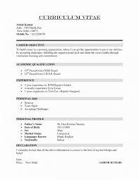 Normal Resume Format Word Luxury Sample Resume Format Word File New