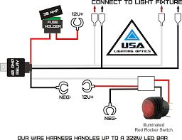 amazon com 1 fog light 40 amp universal wiring harness on the how to wire a floodlight to an existing switch at Flood Light Ing Wiring