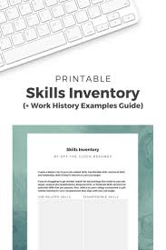 Executive Resume Writing Tips Skills Inventory Do It Yourself Resume Business Resume