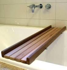 bathtub tray wooden bath designs tub caddy chrome clawfoot fresh wood