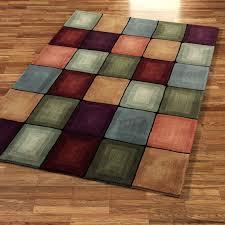 square dark brown beige blue orange red green yellow purple cushioning wool carpet kitchen floor wooden perplexing