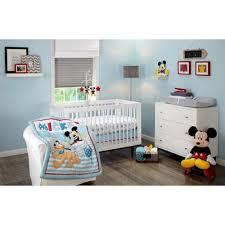mickey mouse crib sheet set amazon com disney lets go mickey mouse adorable 3 piece crib