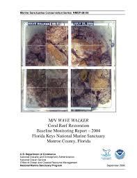Noaa Chart 11452 Pdf M V Wave Walker Coral Reef Restoration Baseline