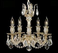 rosetta collection 5 light mini brass crystal chandelier