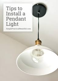 How To Install New Pendant Light Fixture Beautiful Vintage Style Pendant Light For Above The Sink