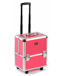 beautician makeup trolley box pink vanity case