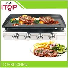 4 burner gas grill griddle stainless steel new outdoor machine gourmet triton combo