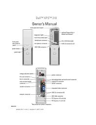 Dell Diagnostic Lights Dell 210 Personal Computer User Manual Manualzz Com